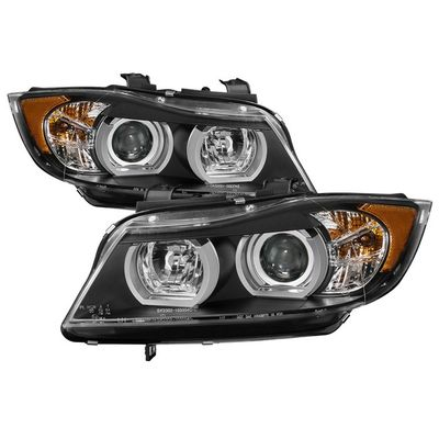 06-08 BMW 3-Series E90 [HID Xenon AFS] LED Tube Projector Headlights - Black