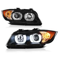 06-08 BMW E90 3-Series 4DR [Halogen Model Only] LED DRL Projector Headlights - Black