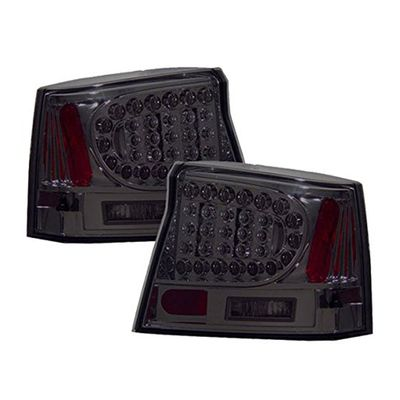 06-08 Dodge Charger LED Tail Lights - Smoked