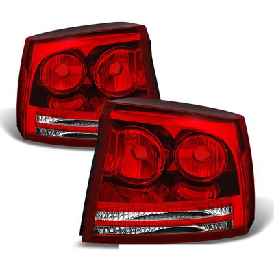 06-08 Dodge Charger OEM Style Replacement Tail Lights Pair