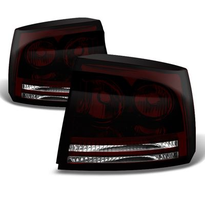 06-08 Dodge Charger OEM Style Replacement Tail Lights Pair - Smoked