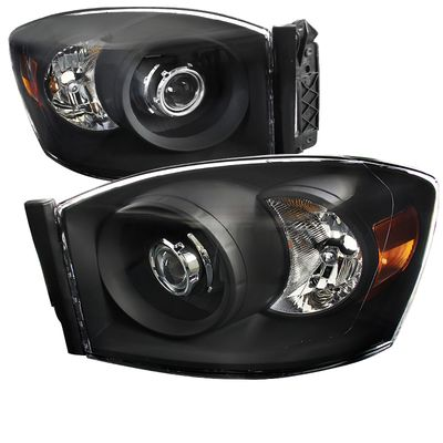06-08 Dodge RAM 1500 2500 3500 Projector Headlights - Black