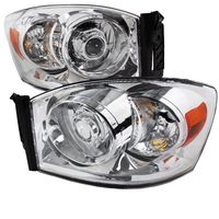 06-08 Dodge RAM 1500 2500 3500 Projector Headlights - Chrome
