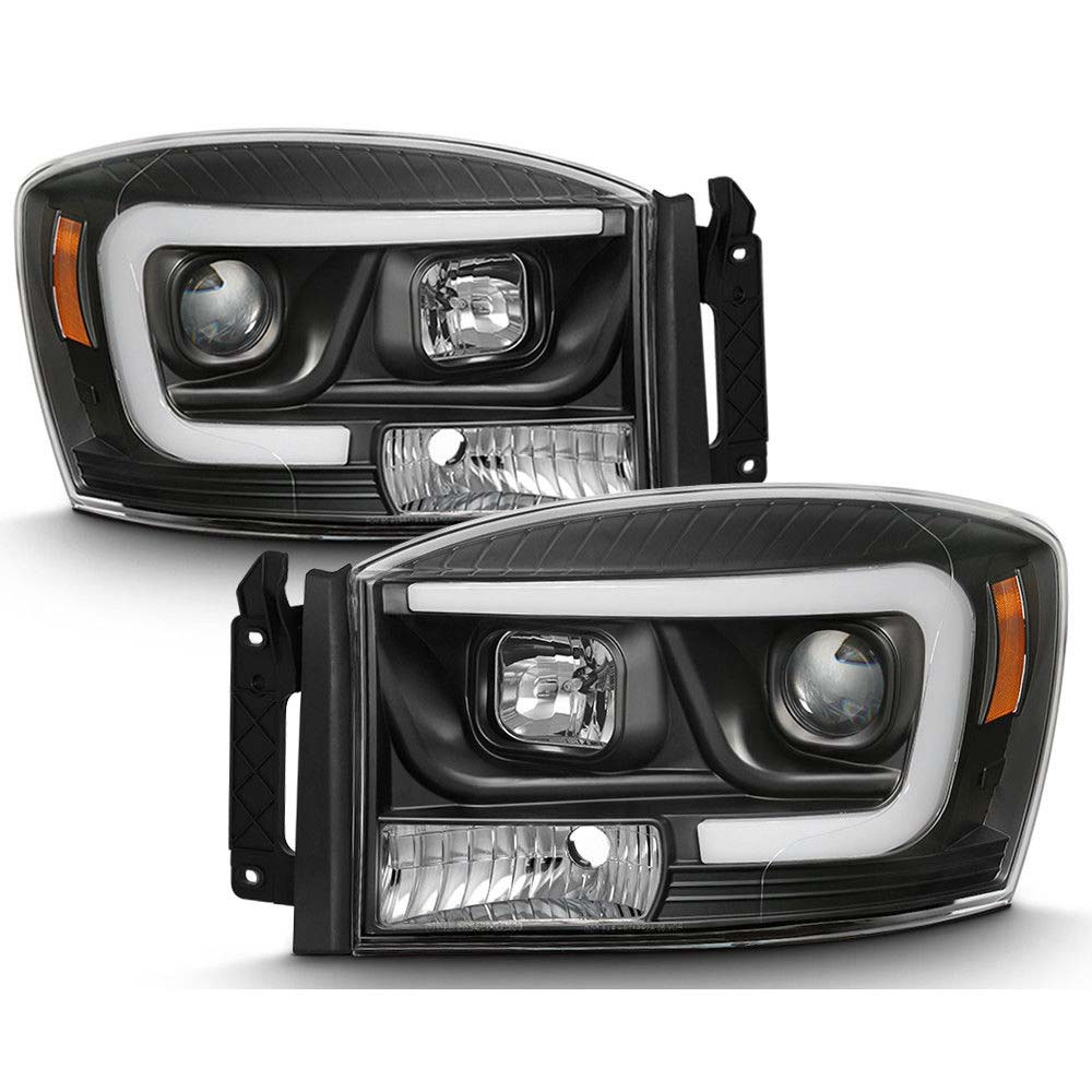 06 08 Dodge Ram 1500 3500 Led Projector Headlights Black Click To Enlarge
