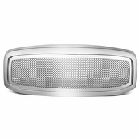 06-08 Dodge RAM [Mesh Style] Replace ABS Front Grille - Chrome