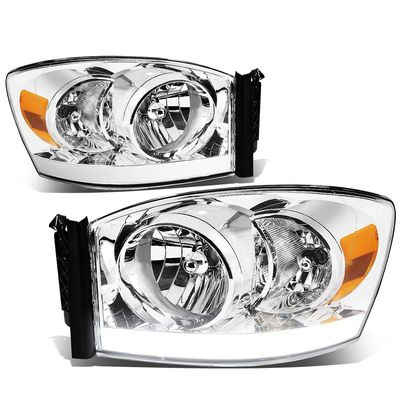 06-08 Dodge RAM Optic-DRL Replacement Headlights - Chrome