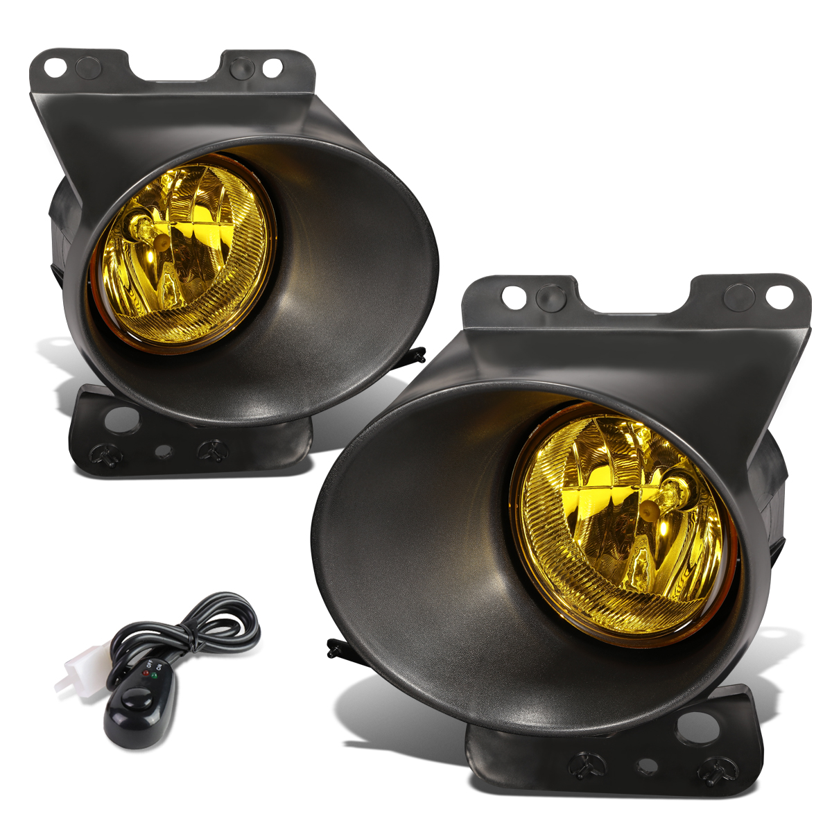 FO2592229 Replacement For Ford F150 F-150 Replacement For Lincoln Mark 2011 2012 2013 2014 Clear Lens Front Bumper Fog Lights Round Driving Lamps Assembly Replacements BL3Z15200A