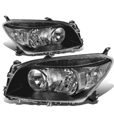 06-08 Toyota RAV4 OE-Style Replacement Headlights  - Black / Clear