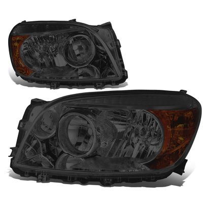 06-08 Toyota RAV4 OE-Style Replacement Headlights  - Smoked / Amber
