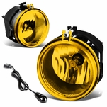 06-09 Dodge Charger/07-09 Pariot Yellow Lens OE Bumper Fog Light Lamp Pair+Switch