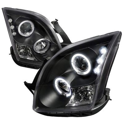 06-09 Ford Fusion Angel Eye Halo Projector Headlights - Black