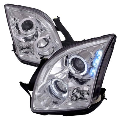 06-09 Ford Fusion Angel Eye Halo Projector Headlights - Chrome