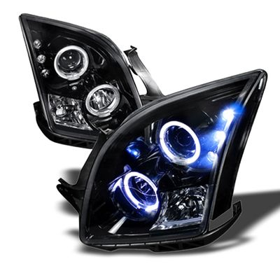 06-09 Ford Fusion Angel Eye Halo Projector Headlights - Glossy Black