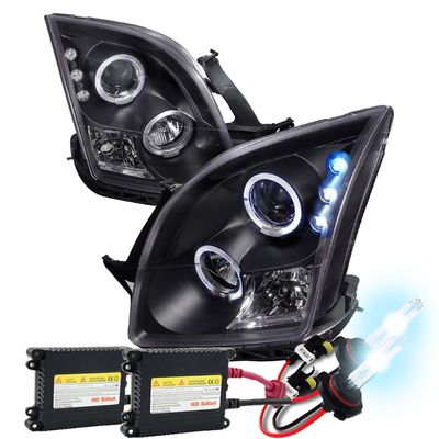06-09 Ford Fusion Angel Eye Halo Projector Headlights With HID Kit - Black