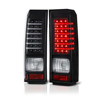 06-09 Hummer H3 Euro Style Performance LED Tail Lights - Black