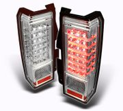 06-09 Hummer H3 Euro Style Performance LED Tail Lights - Chrome