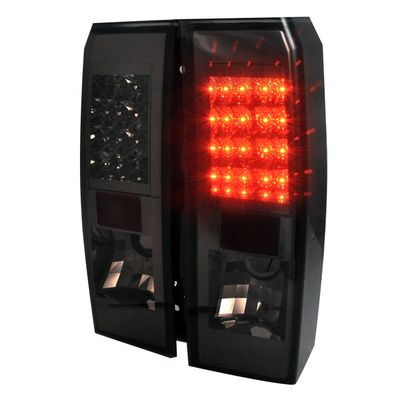 06-09 Hummer H3 Euro Style LED Tail Lights - Red / Smoked