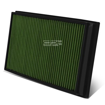 06-09 Land Rover Range Rover 4.2L / 4.4L Reusable & Washable Replacement High Flow Drop-in Air Filter (Green)