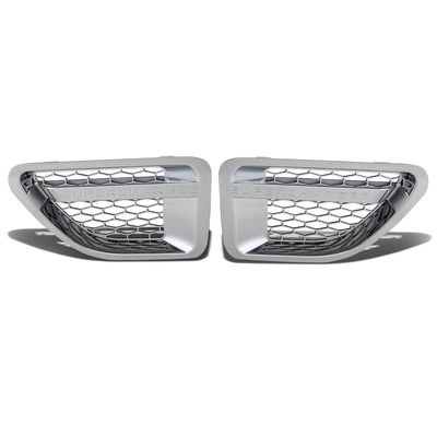 06-09 Land Rover Range Rover Sport Side Fender Vent Mesh Grille (Chrome Surface Silver Mesh)