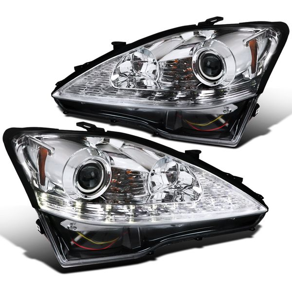 06-09 Lexus IS250 IS350 Sequential LED Signal Chrome Projector Headlights