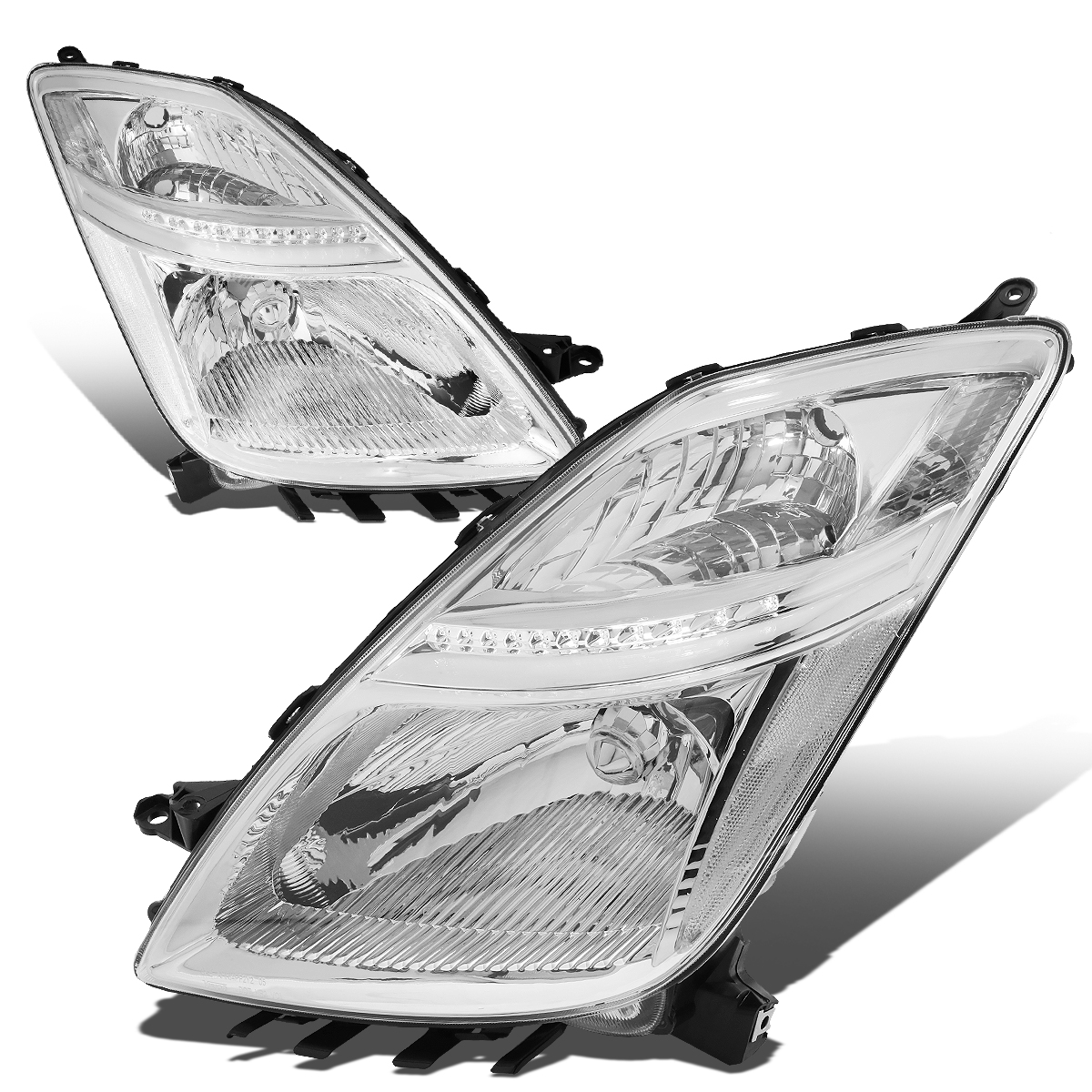 06 09 Toyota Prius Halogen Model Oe Style Replacement Headlights Chrome Click To Enlarge