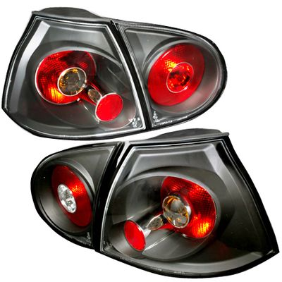 06-09 Volkswagen Golf / GTI / Rabbit Euro Style Tail Lights - Black