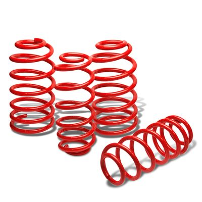"06-10 Chevy Cobalt LT LS SS 1.9"" Drop Suspension Lowering Springs - Red"