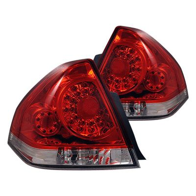 06-10 Chevy Impala SS LS LT Euro Style LED Tail Lights - Red / Clear