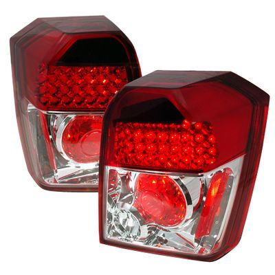 06-10 Dodge Caliber LED Tail Lights - Red Clear