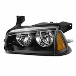 06-10 Dodge Charger LH Left Side OE Style Headlight Lamp Replacement Black