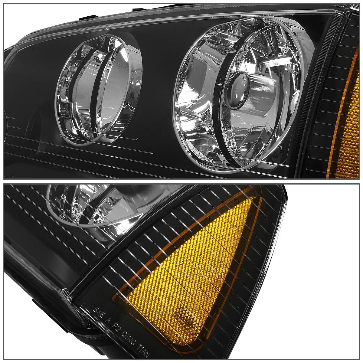 06 10 Dodge Charger Replacement Crystal Headlights Set