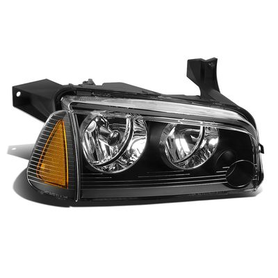 06-10 Dodge Charger RH Right Side OE Style Headlight Lamp Replacement Black
