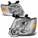 06-10 Ford Explorer/ 07-10 Sport Trac Replacement Crystal Headlights - Chrome