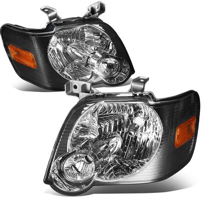 06-10 Ford Explorer/ 07-10 Sport Trac Replacement Crystal Headlights - Smoked