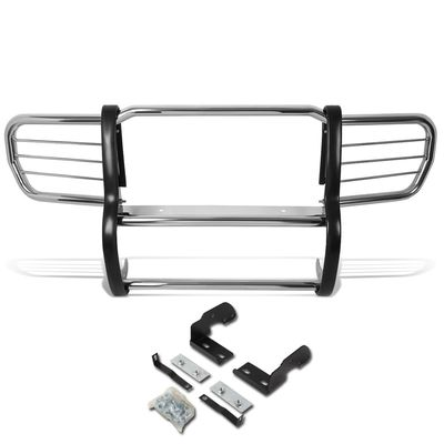 06-10 Jeep Commander XK Front Bumper Protector Brush Grille Guard (Chrome)