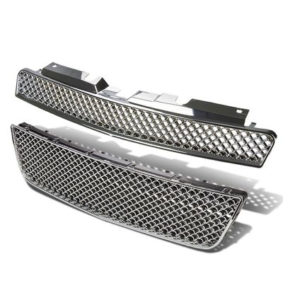 06-09 Chevy Impala Upper / Lower Front Bumper ABS Mesh Grill / Grille - Chrome