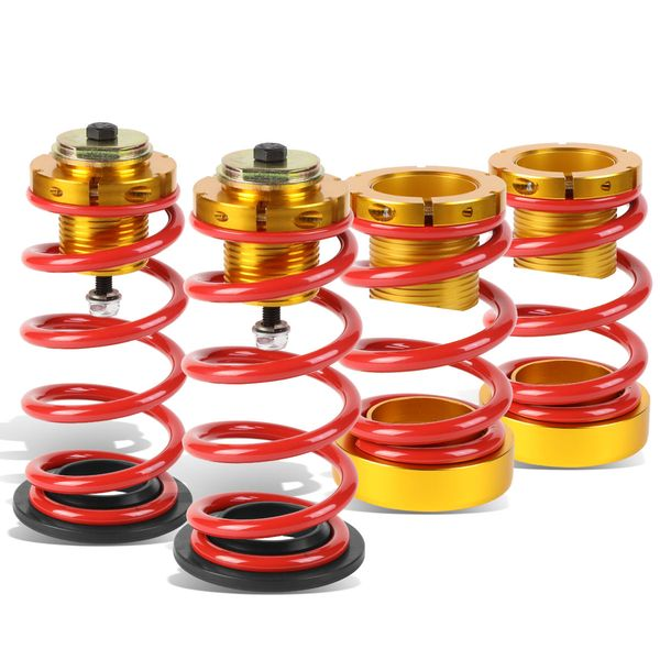 "06-11 Honda Civic 1-4"" Adjustable Red Lowering Spring Coilover - Gold Kit"