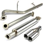 "06-11 Kia Rio 2.5"" Rolled Tip SS Performnace Catback Exhaust"