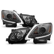 06-11 Lexus GS300 GS350 GS430 [HID Model] LED DRL Projector Headlights - Smoked
