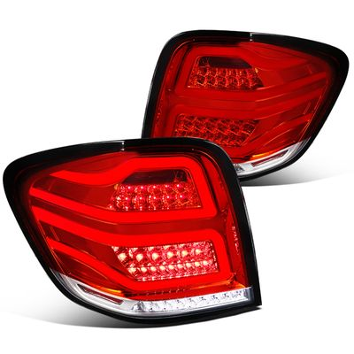 06-11 Mercedes Benz W164 ML-Class Red Clear Full LED Rear Tail Lights Brake Lamps