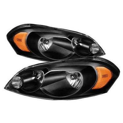 06-13 Chevy Impala / 06-07 Monte Carlo Crystal Headlights (Amber Reflector) - Black