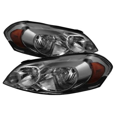 06-13 Chevy Impala / 06-07 Monte Carlo Crystal Headlights (Amber Reflector) - Smoked