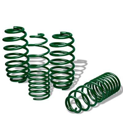 "06-12 VW Golf Rabbit 1.25"" Drop Suspension Lowering Springs - Green"