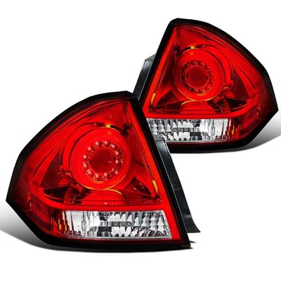 06-13 Chevy Impala Halo Style LED Tail Brake Light - Red