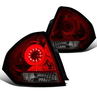06-13 Chevy Impala Halo Style LED Tail Brake Light - Red Smoked