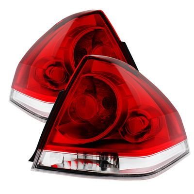 06-13 Chevy Impala OEM Style Replacement Tail Lights Red Clear