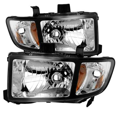 06-14 Honda Ridgeline Replacement Crystal Headlights - Black