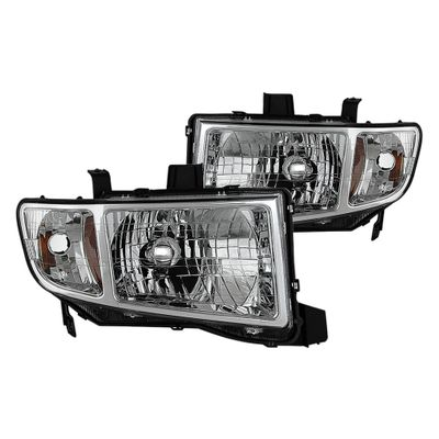06-14 Honda Ridgeline Replacement Crystal Headlights - Chrome