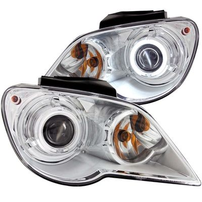 07-08 Chrysler Pacifica [Factory HID Model] CCFL Halo Projector Headlights - Chrome