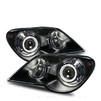 07-08 Chrysler Pacifica (Halogen Model) CCFL Halo Projector Headlights - Black